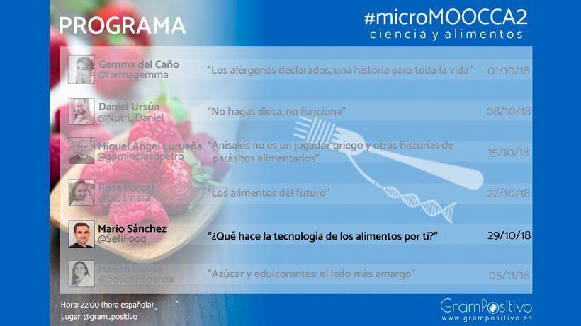 ¿Qué hace la tecnología de alimentos por ti? #microMOOCCA2   Curso 5