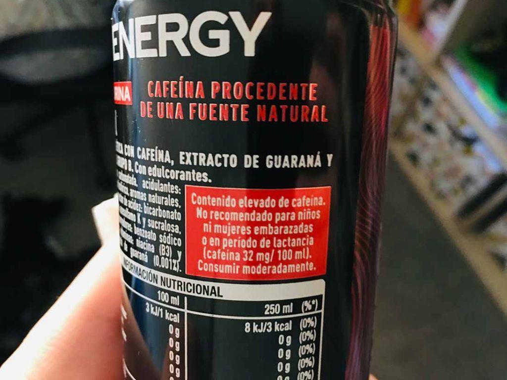 coca cola energy cafeina