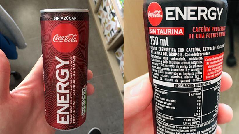 Etiquetado Coca-Cola Energy